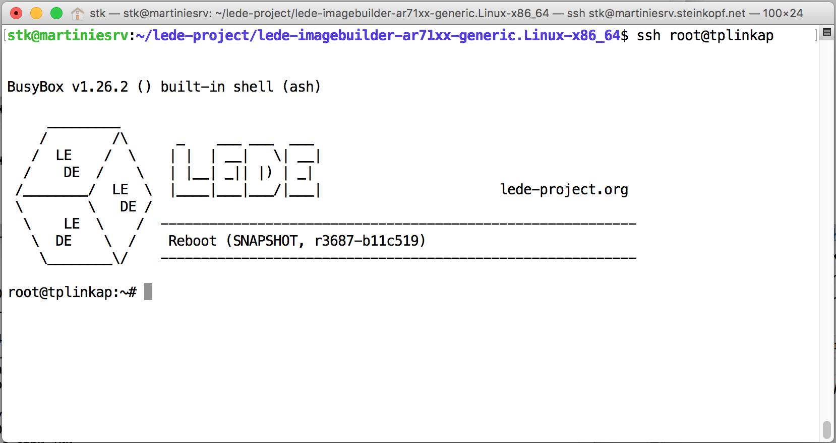 SSH-Login in LEDE