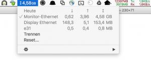 Bandwidth+ überwacht den Netzwerktraffic aller lokalen Netze