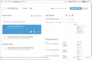 Visualping überwacht Webseiten auf Änderungen und benachrichtigt auf verschiedenen Wegen.